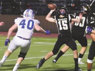 Archer City junior quarterback Ty Bates received the District 6-2A Offensive MVP award after accounting for 36 touchdowns and 2,824 yards of total offense. Photo/Will Edwards