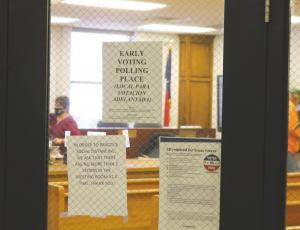 Voters hit the polls at the Archer County Courthouse Annex on Tuesday, Oct. 20. Through Monday, Oct. 19, 1,788 of registered voters had voted. Photo/Jerry Phillips