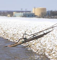 The water plant at Lake Kickapoo lost power due to Oncor shutting off portions of the electric grid per ERCOT's (Electric Reliability Council of Texas) directive. As a result, pipes froze at the water plant at Lake Kickapoo. Photo/Jenny Schroeder