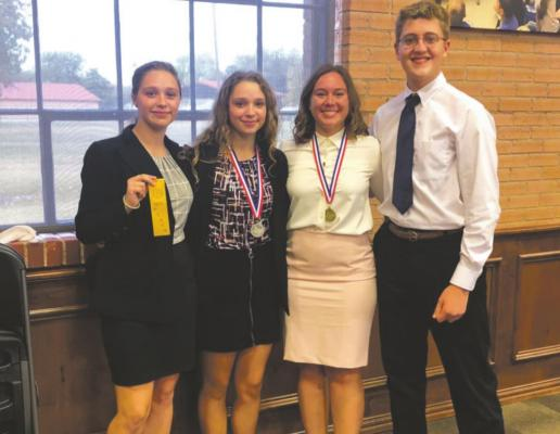 Archer City ISD Congress Debate members state-bound