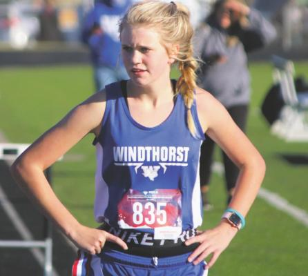 Belcher runs at XC state meet