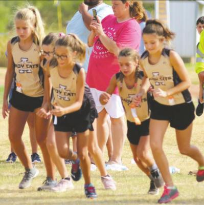 The 2019 Junior High School Cross Country team competes in Haskell last year. File photo
