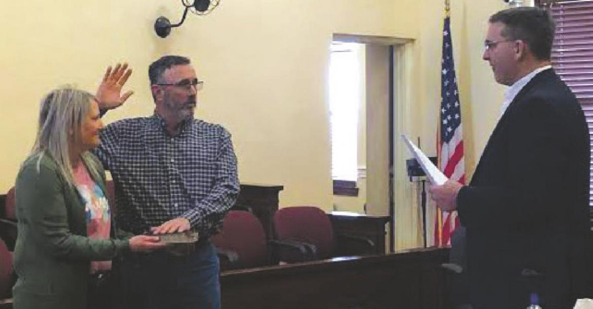 Herring sworn in as new county commissioner